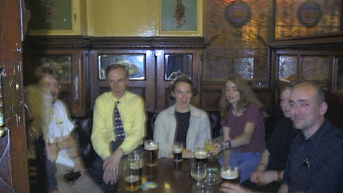 Figure 1: Workshop delegates relaxing in The Crown