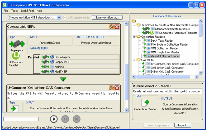 Figure 1: U-Compare interface