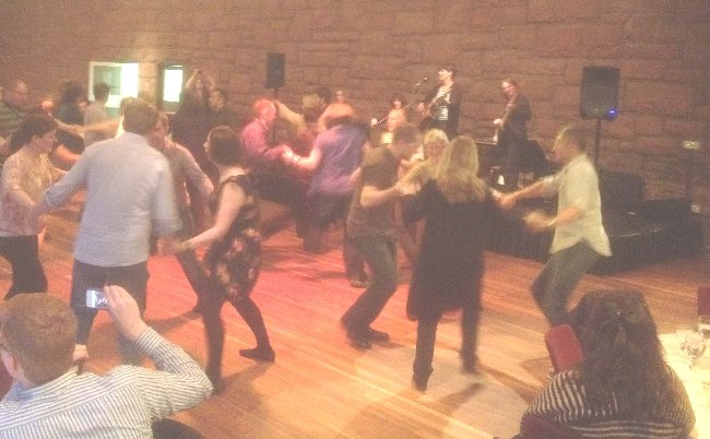 Delegates enjoying a ceilidh at the end of day one
