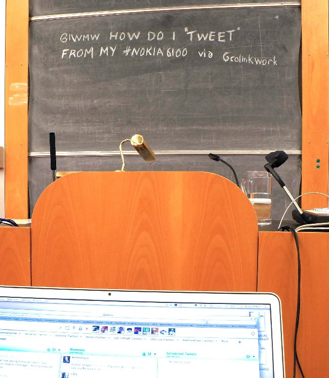 "An ""old skool"" tweet using blackboard technology"